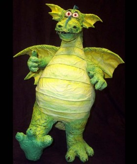 Little Happy paper mache William Dragon