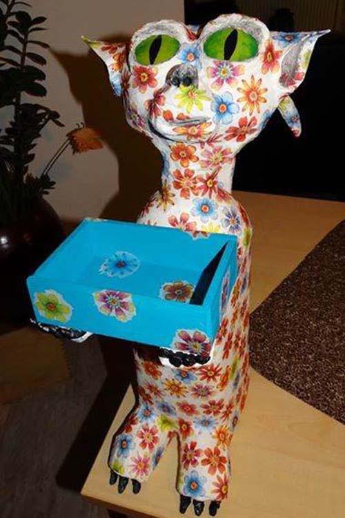 Lydia Kuperus' paper mache project