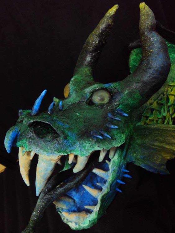 maria's paper mache dragon trophy2