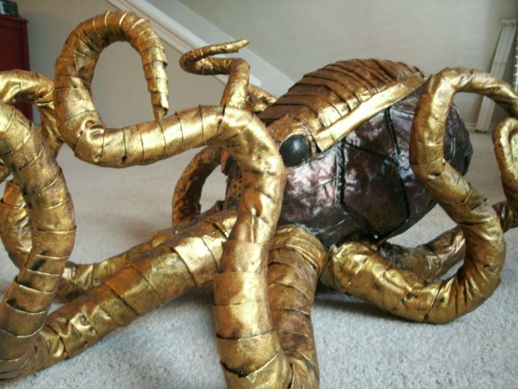 Mary's paper mache mechanical octopus