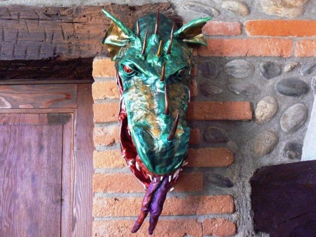 nathalies paper mache dragonface