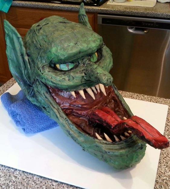 Ryan's paper mache mask
