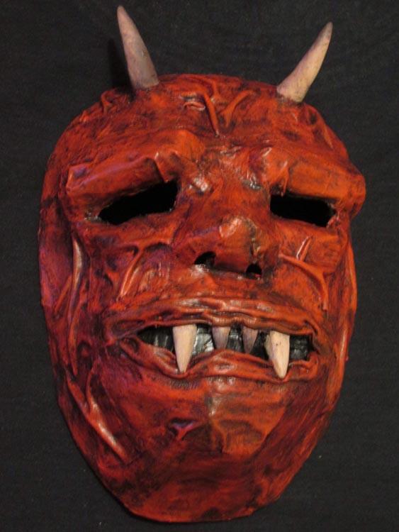 steven lewis' paper mache mask 2