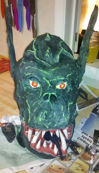 andys paper mache mask