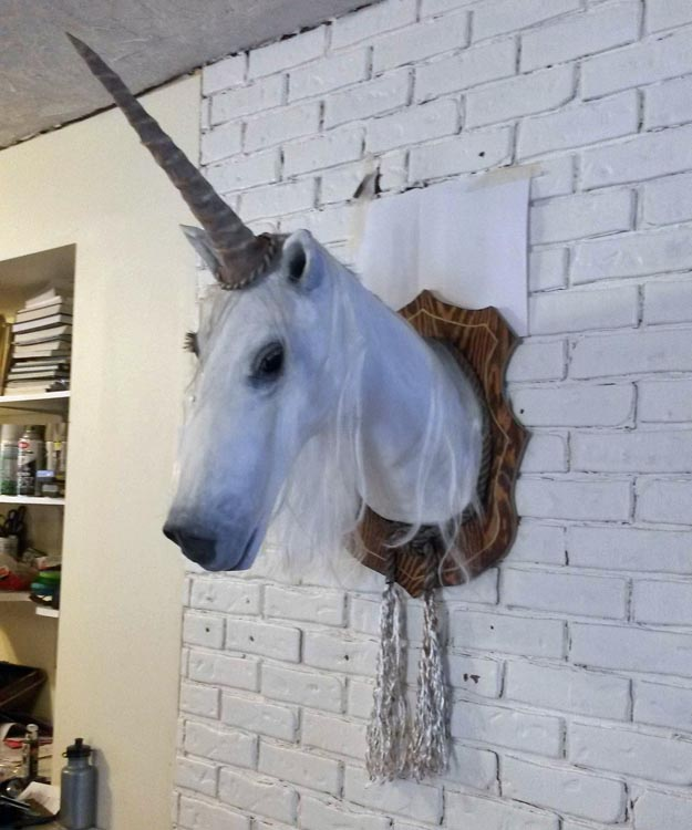 Ashley's paper mache unicorn 1