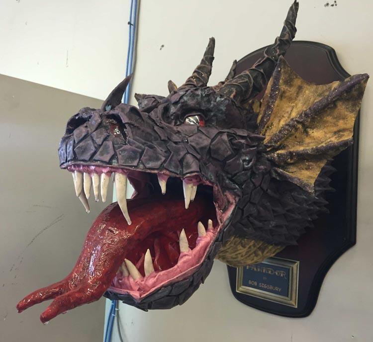 Bob Sigsbury's paper mache dragon trophy1