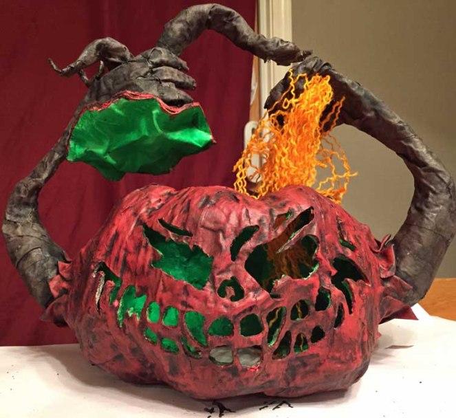 Bob's paper mache pumpkin