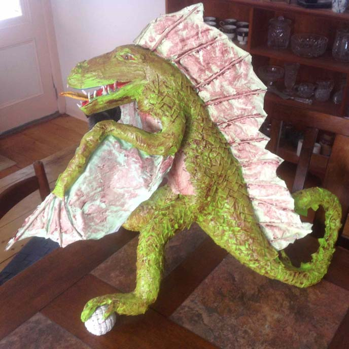 Catharine Kennedy's paper mache dragon 2