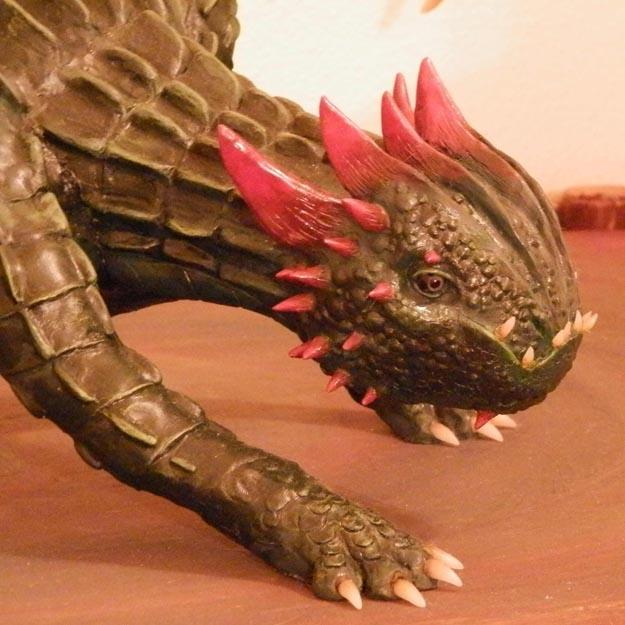 Dakotas paper mache dragon