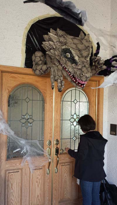 Dan fitzpatricks paper mache dragon1