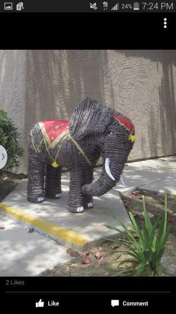 Frank Carrillo's paper mache elephant pinata