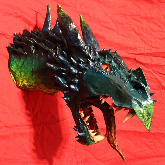Hunter Wickersham's paper mache dragon trophy1