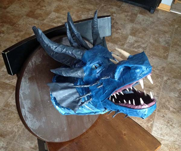 Jim Popp's paper mache Voltathrax the Wicked