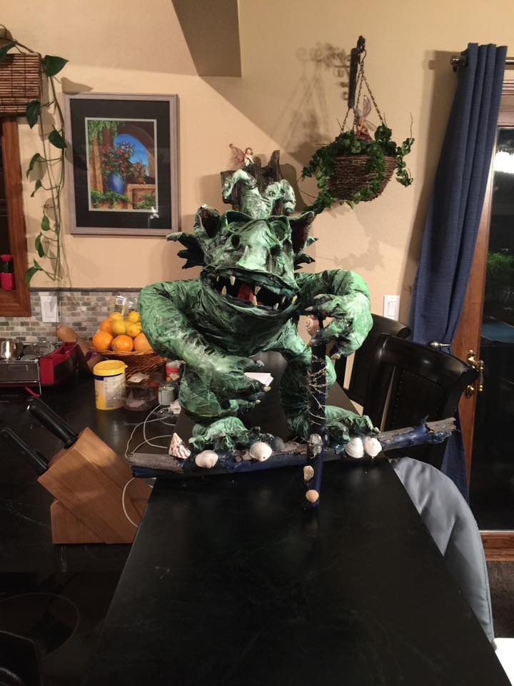 joanne secord's paper mache monster