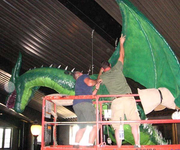 justins paper mache dragon1