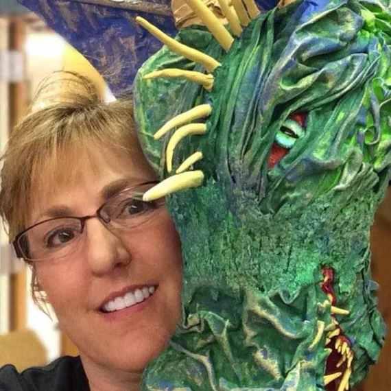 Kathy Nelson's  paper mache trophy
