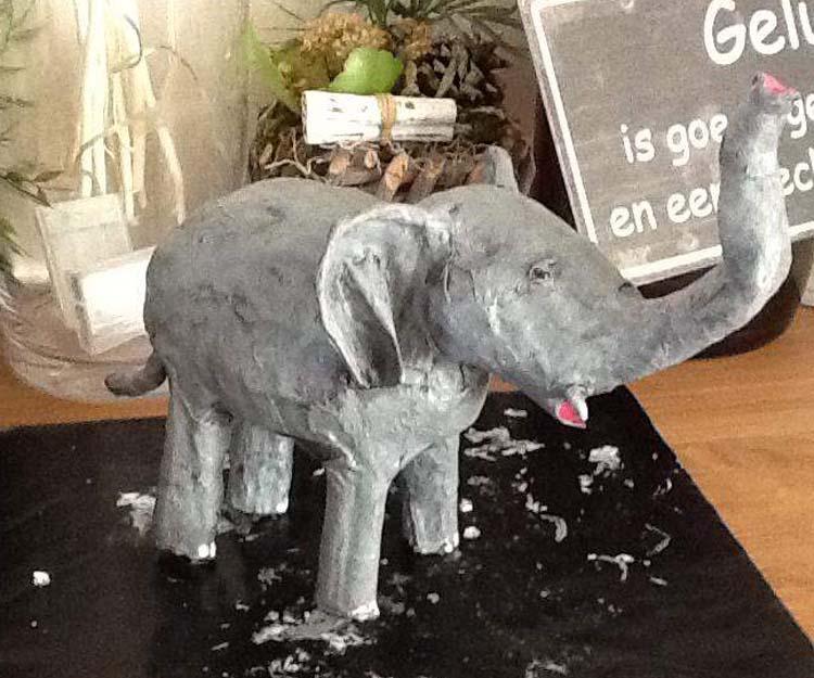 Laura Moleman's paper mache elephant