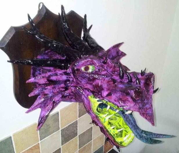 luke salter's paper mache dragon
