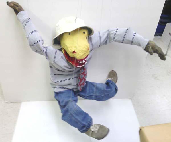 marcus paper mache puppet