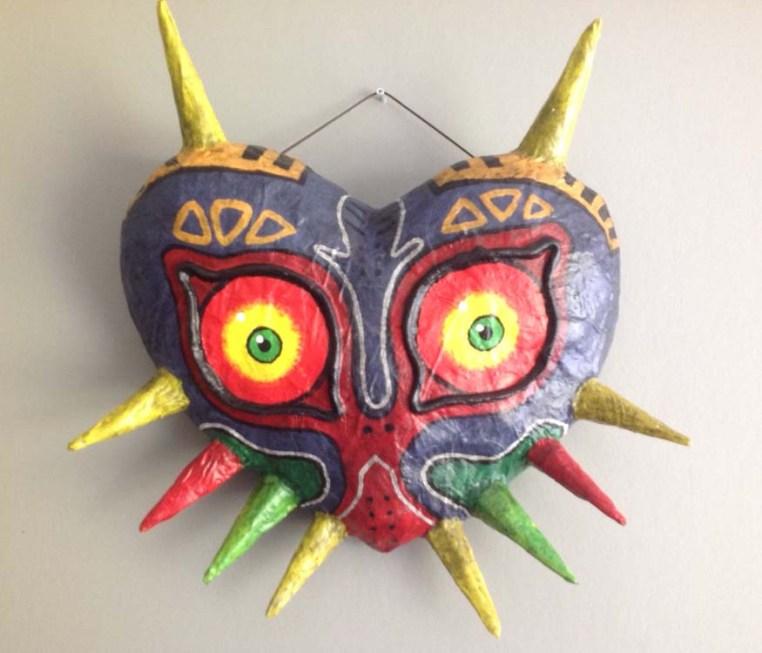 Maria's paper mache Majora's mask