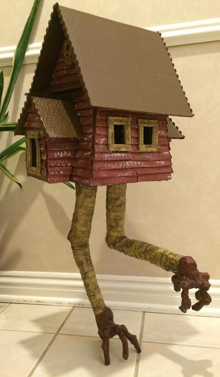 Marty Armentrout's paper mache Baba Yaga's house on legs
