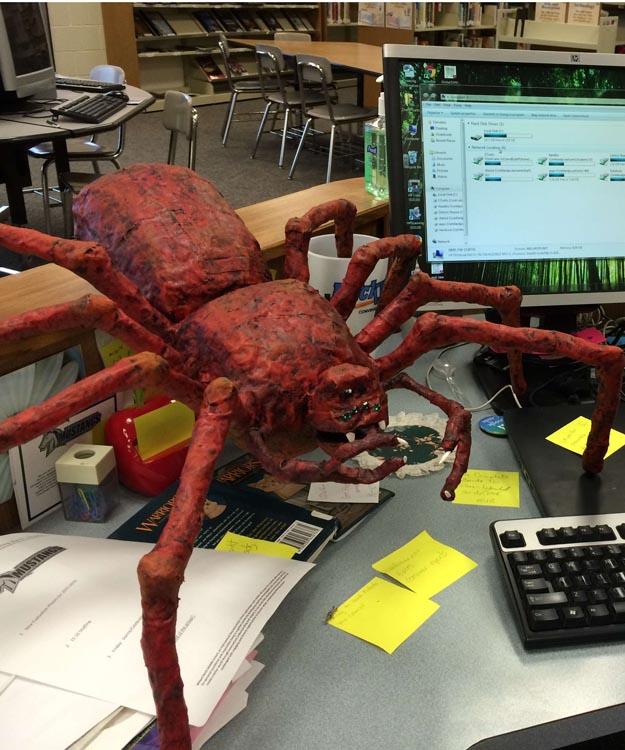 Marty Armentrout's paper mache spider