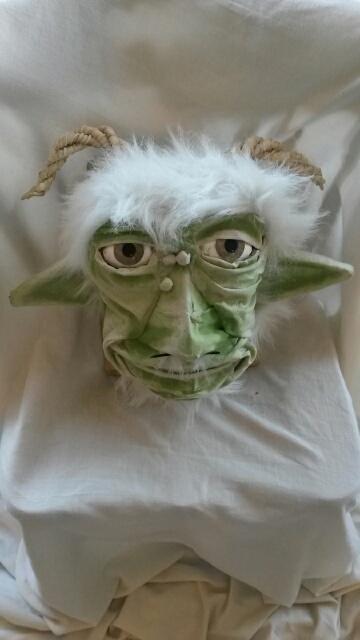 Michelle McClain's paper mache face