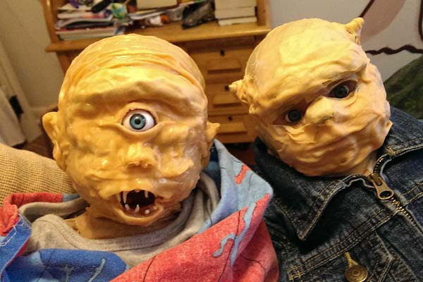 paper mache baby tyson and babyt grover garth dennis