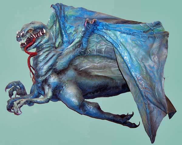 paper mache blue dragon