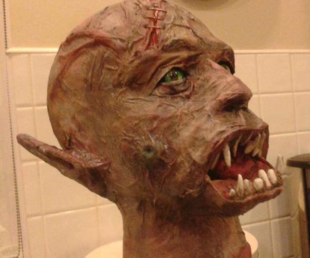 steve's paper mache ugly man