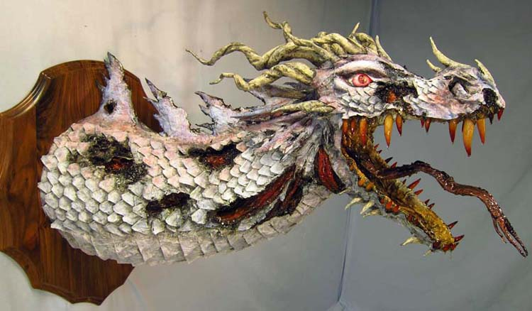 Zombie paper mache dragon- side2