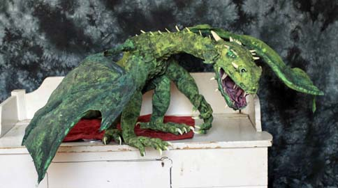 Andrew Tower's paper mache dragon- portfolio