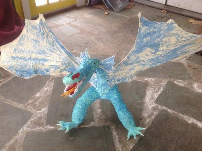 Catharine Kennedy's paper mache dragon 3