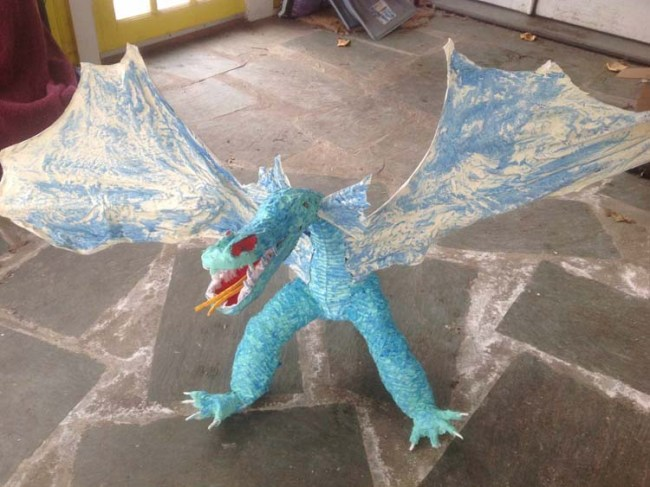Catharine Kennedy's paper mache dragon 3
