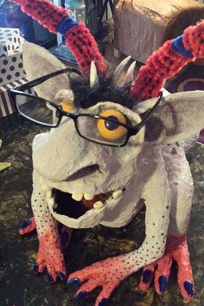 cat's paper mache monsters