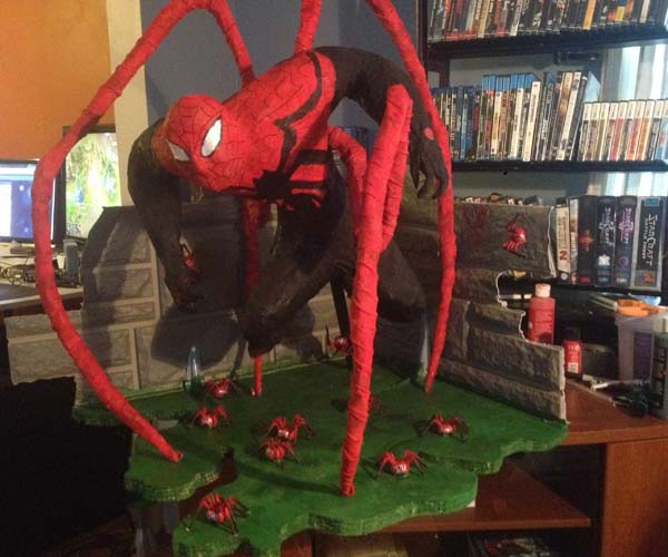 Cerberus' paper mache spiderman