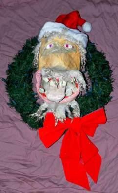 David's paper mache bad santa