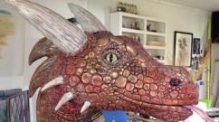 dede lifgren's paper mache dragon- portfolio