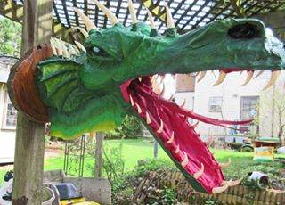 Gordon John Wendling's paper mache dragon