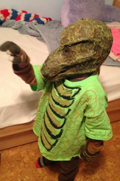 john Daly's paper mache costume