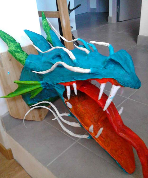 julien's paper mache dragon trophy