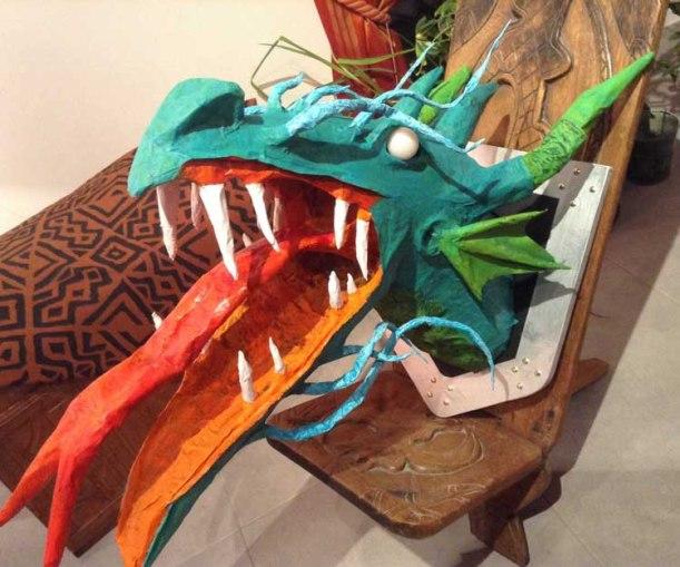 Julien's paper mache dragon