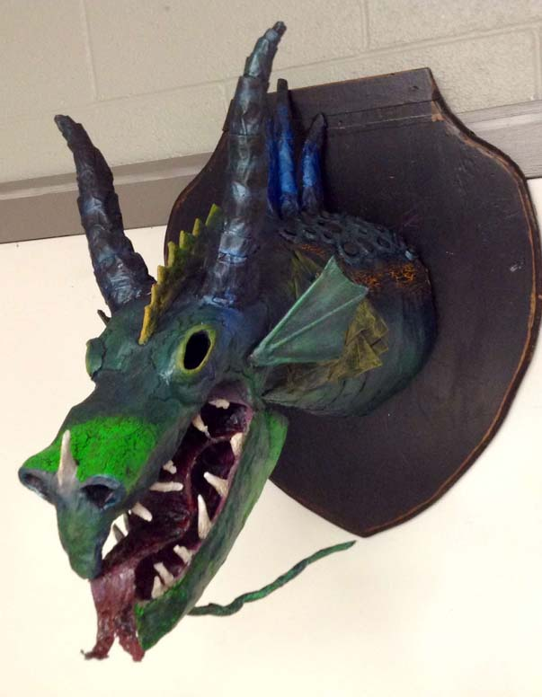 kristin's 10th grade student's paper mache project
