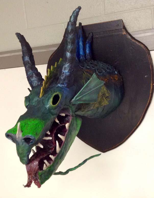 kristin's 10th grade student's paper mache project