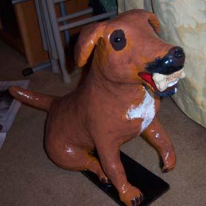 Lisa's paper mache Dog