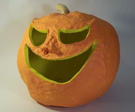 Ljgato's paper mache pumpkin