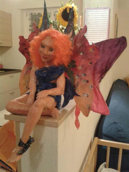 Luca Nesler's paper mache fairy