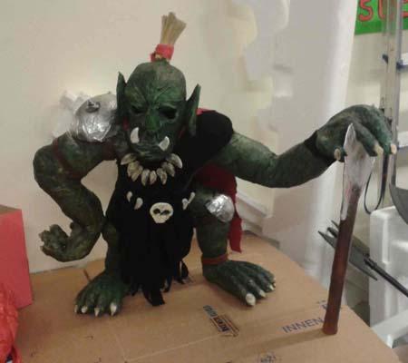 luca Nesler's paper mache troll