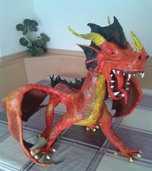 luca's paper mache dragon
