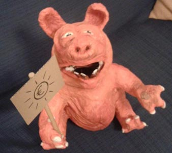 luca's paper mache pig